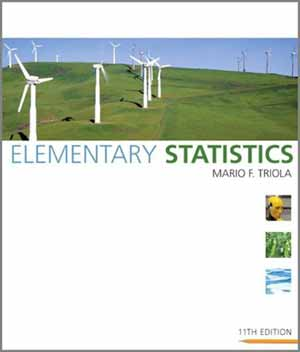 Elementary Statistics by Mario Triola - 11th Edition cover