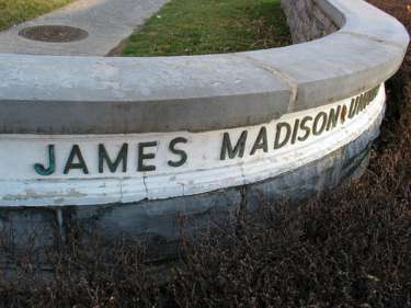 James Madison University Sign