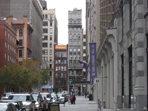 New York University Bookstore - outside view