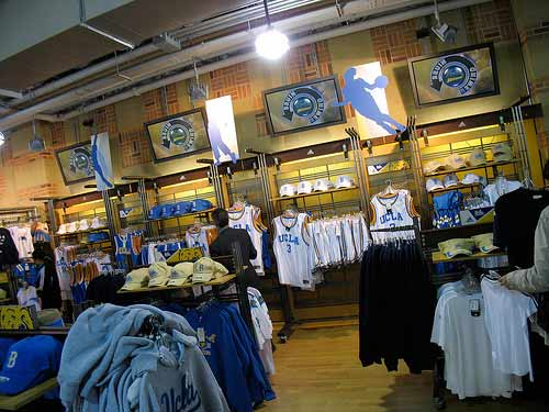 UCLA Store - inside view
